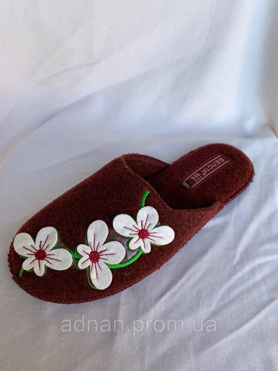 Тапочки жіночі, БЕЛСТА, паркетні, 6 пар в упаковці, Україна/ купити тапочки оптом