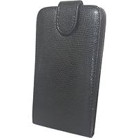 Чехол книжка на Nokia Asha 610 Змеиный принт Черный