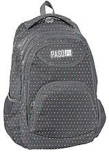 Рюкзак міський PASO, Польща 19L сірого кольору