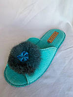 Тапочки женские, БЕЛСТА, паркетные с пухом, 6 пар в упаковке, Украина/ купить тапочки оптом