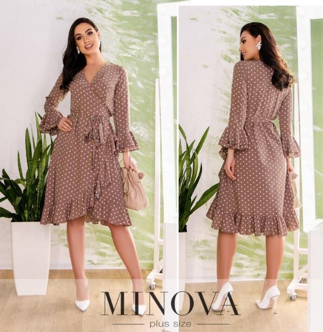 Платье в горошек Minova Фабрика моды Размеры: 48,50,52,54,56,58,60