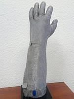 Кольчужная перчатка с металлической застежкой и отворотом 19см Schlachthausfreund (Германия), фото 2