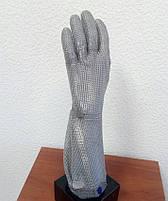 Кольчужная перчатка с металлической застежкой и отворотом 19см Schlachthausfreund (Германия), фото 3