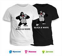 Футболка Black & White горилла