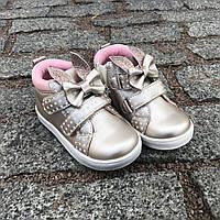 Демисезоные, нарядные с ушками ботинки С.Луч на девочку 21-25 р