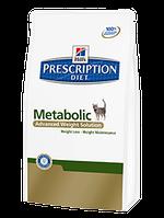 Корм для котов Hills PD Feline Metabolic 1,5 кг хиллс для котов с избыточным весом и ожирении