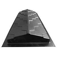 """Форма для парапета на забор """"Чешуя"""" 500*180*50 мм; для литья бетонных коньков на забор, фото 1"""