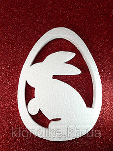 """Заготовка пенопластовая """"Зайчик пасхальный"""", длина: 15 см, толщина: 2 см"""