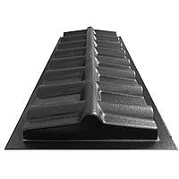 """Форма для парапета на забор """"Черепица"""" 500*180*50 мм; для литья бетонных коньков на забор, фото 1"""