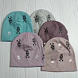"""М 4543. Шапка подвійна для дівчинки """"boss girl"""" Vivatricko, 3-10 років, різні кольори, фото 6"""
