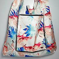 Экосумка с карманом складывающаяся расцветки микс