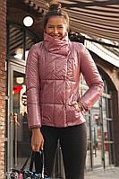 Куртка женская розовая с лаковым блеском S,M,L,XL,2XL,3XLXL,5XL,6XL