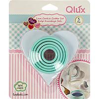 """Набір форм для випічки """"Heart"""" (5шт) пластик 15395/L539/Qlux"""