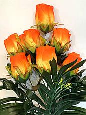 Искусственная роза.Букет крупных бутонов роз., фото 3