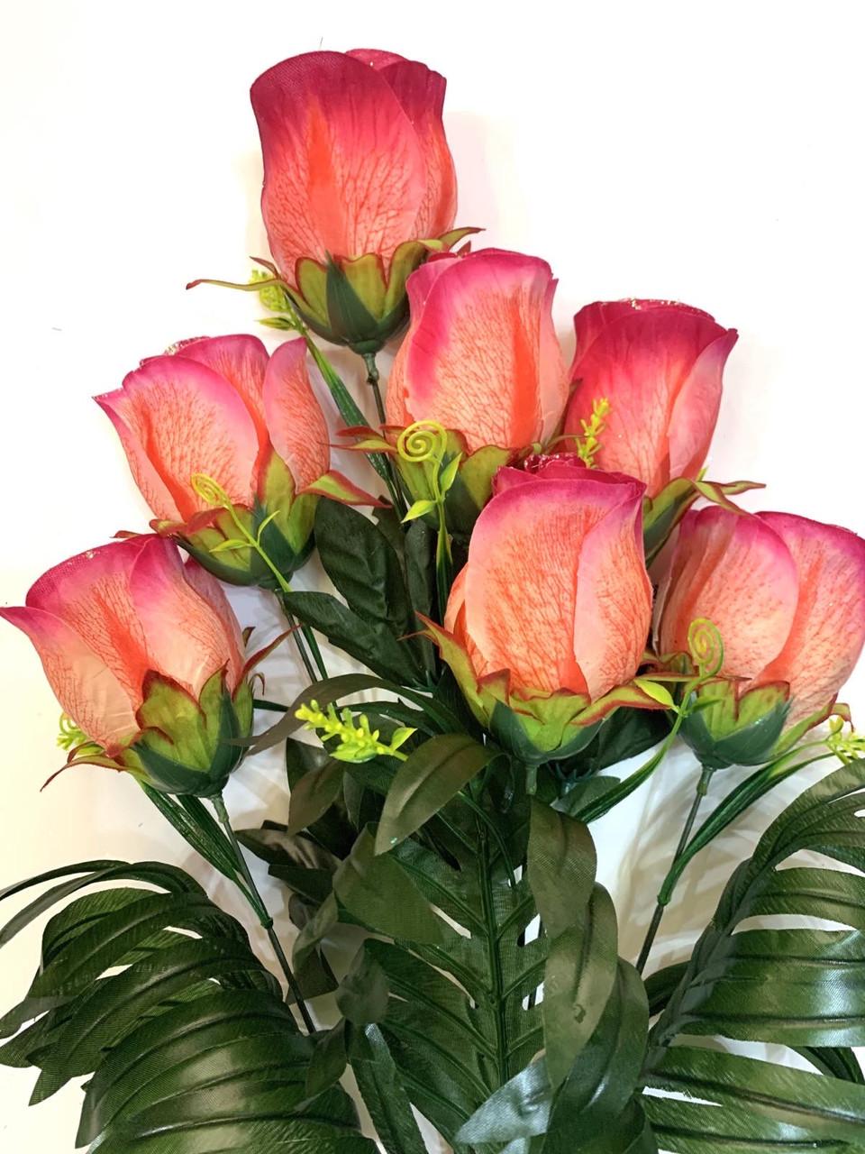 Искусственная роза.Букет крупных бутонов роз.
