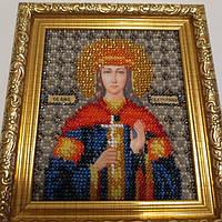 Икона вышивка бисером св.Екатерина