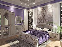 Спальня Альба - кровать, тумбы, комод, шкаф