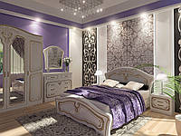 Спальня Альба - кровать, тумба, комод, шкаф, зеркало