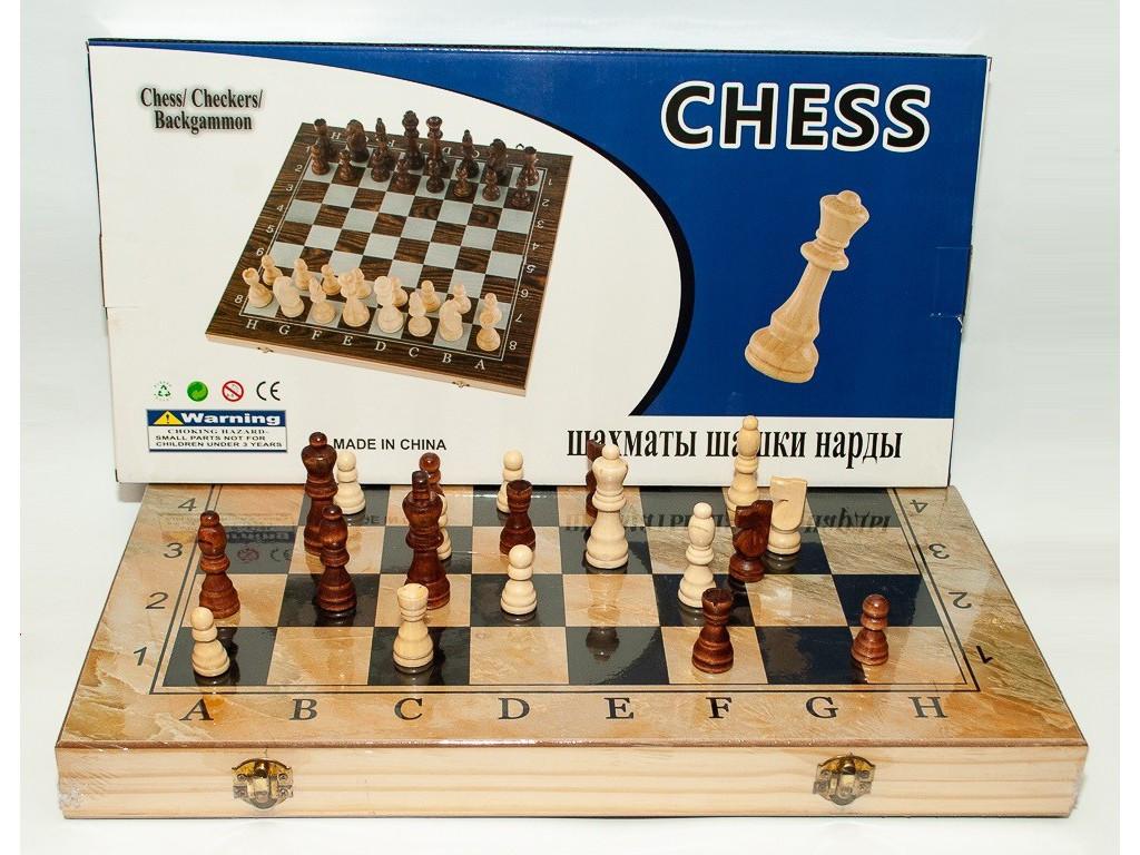 I5-90 Шахматы + шашки + нарды (48 х 48 см)
