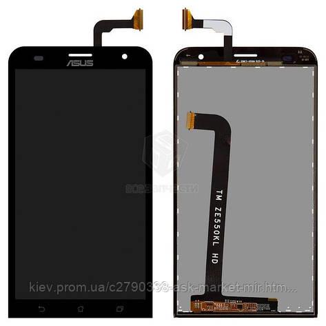 Дисплей для Asus ZenFone 2 Laser ZE550KL Original Black с сенсором, фото 2