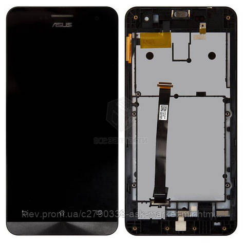 Дисплей для Asus ZenFone 5 A500CG, ZenFone 5 A500KL, ZenFone 5 A501CG Original Black с сенсором и рамкой, фото 2
