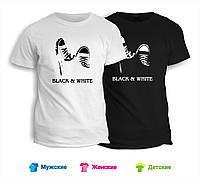 Футболка Black & White кеды