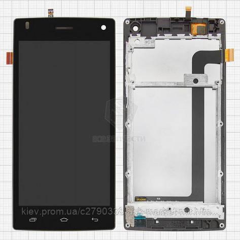 Дисплей для Fly FS452 Nimbus 2 Original Black з сенсором і рамкою #E. 01.004.10.003, фото 2