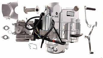 Двигатель (В сборе)  на Мопед Дельта (Deltа) 125 см³ (Механическая коробка передач, чугунный цилиндр 157FMH)