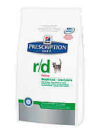 Корм для котов Hills PD Feline R/D 1,5 кг хиллс для котов при ожирении, для снижения веса