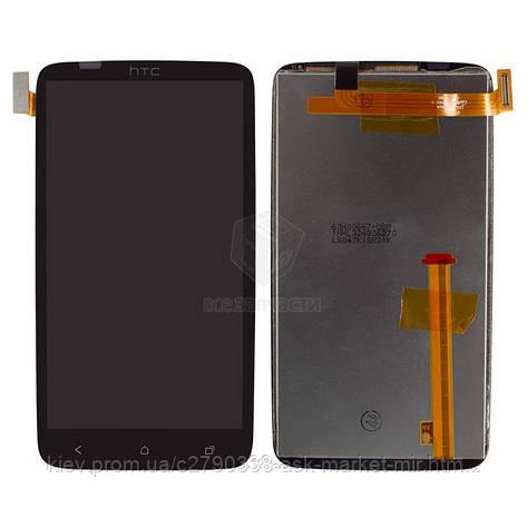 Дисплей для HTC One X S720e G23, One XL X325e, One XL X325s Original Black с сенсором, фото 2
