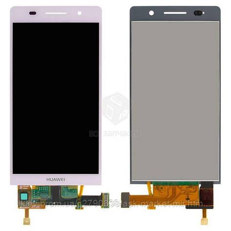 Дисплей для Huawei Ascend P6-U06 Original Pink с сенсором, фото 2