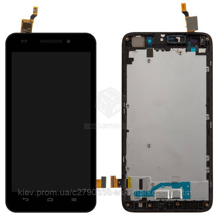 Оригинальный дисплей с сенсором и рамкой для Huawei Ascend G620s