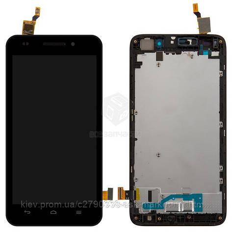 Дисплей для Huawei Ascend G620s Original Black с сенсором и рамкой, фото 2