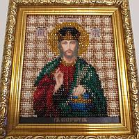 Икона вышивка бисером Иисус Христос