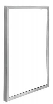 Зеркало в стальной матовой окантовке 70*50 EFORMETAL 516