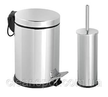 Корзина для ванной с щёткой EFORMETAL 477M