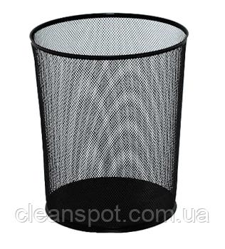 Металлическая корзина для бумаг сетка 12 л EFORMETAL чёрная (2001)