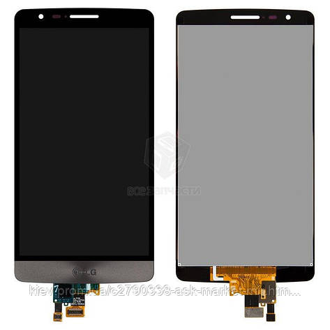 Дисплей для LG G3s (D722, D724), G3 Vigor D725, G3 mini D728 Original Black с сенсором, фото 2