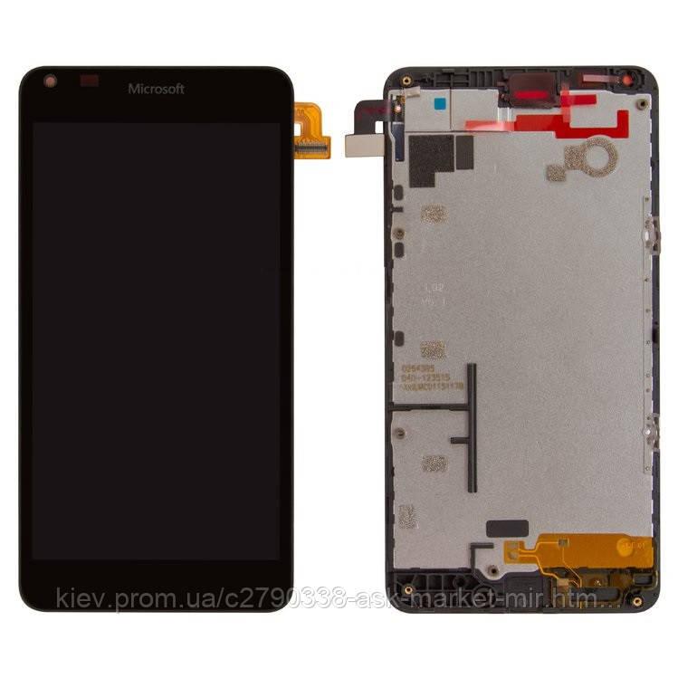 Оригинальный дисплей с сенсором и рамкой для Microsoft Lumia 640 Dual SIM RM-1077