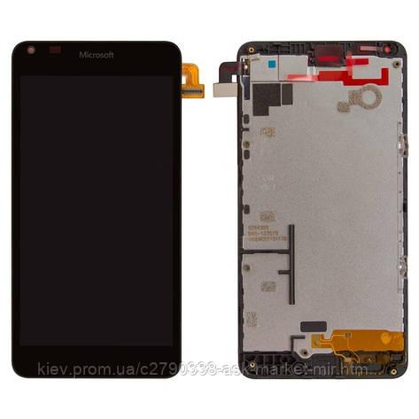 Дисплей для Microsoft Lumia 640 Dual SIM RM-1077 Original Black с сенсором и рамкой, фото 2