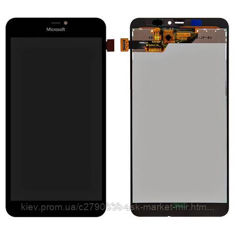 Дисплей для Microsoft Lumia 640 XL Dual SIM (RM-1062, RM-1065, RM-1066, RM-1067) Original Black с сенсором, фото 2