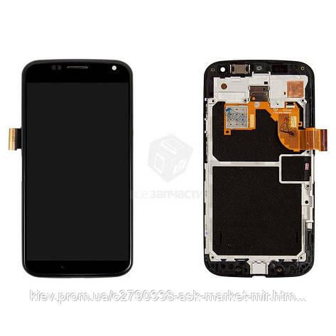 Дисплей для Motorola Moto X (XT1052, XT1053, XT1055, XT1056, XT1058, XT1060) Original Black с сенсором и рамкой, фото 2