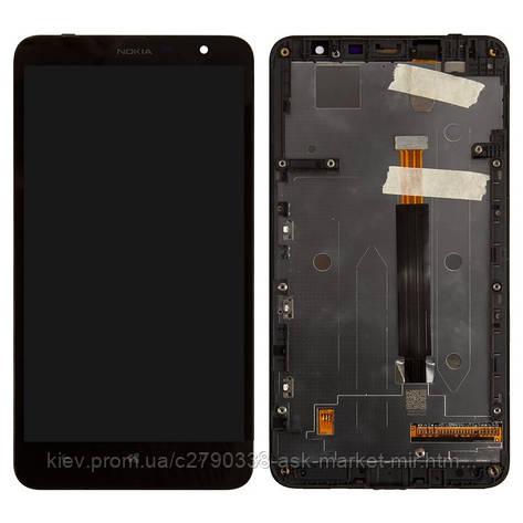 Дисплей для Nokia Lumia 1320 Original Black с сенсором и рамкой, фото 2