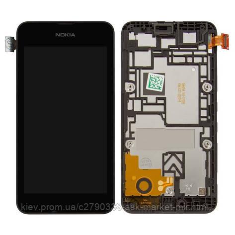 Дисплей для Nokia Lumia 530 Original Black с сенсором и рамкой, фото 2