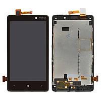 Дисплей для Nokia Lumia 820 Original Black с сенсором и рамкой