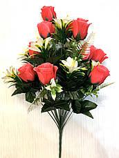Искусственный букет. Искусственная роза., фото 2