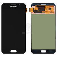 Дисплей для Samsung Galaxy A7 2016 (A710F, A710M, A710Y), Galaxy A7 2016 (A7100, A710FD) Original Black с сенсором #GH97-18229B