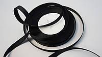 Репсовая лента чёрная (1 см), фото 1