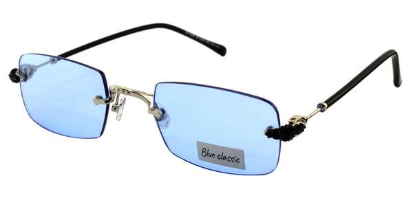 Очки голубые прямоугольные Blue Classic Polaroid
