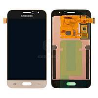 Дисплей для Samsung Galaxy J1 2016 J120H Original Gold с сенсором #GH97-18224B